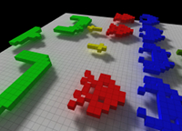 Space Invaders Model in 3d